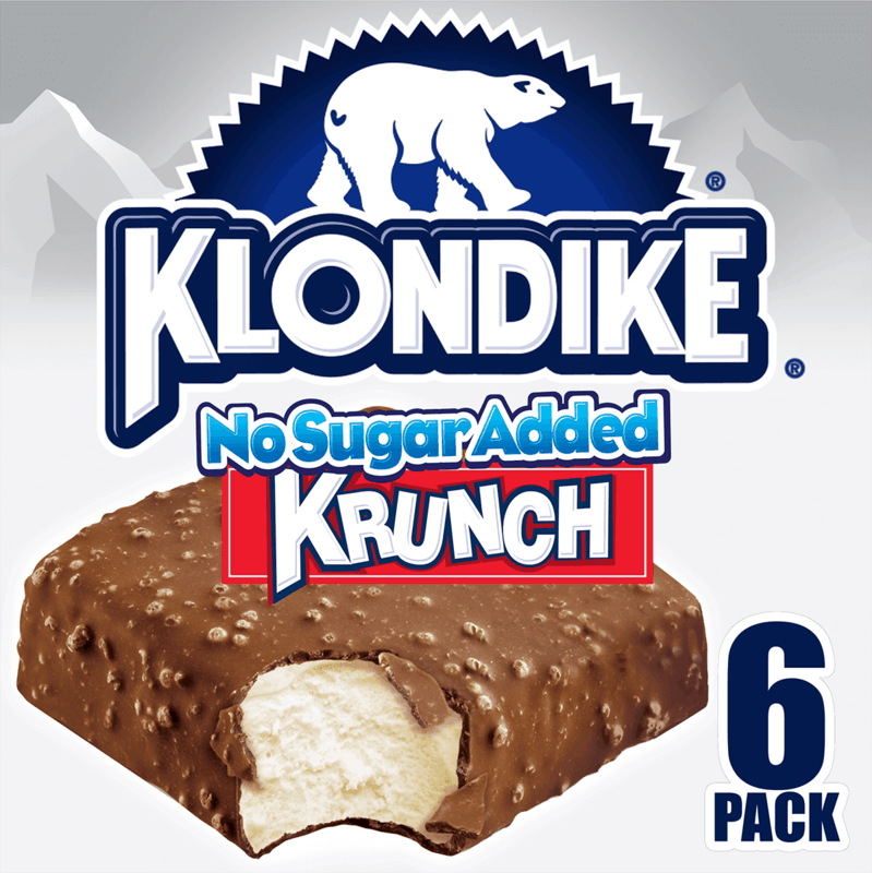 $0.50 for Klondike® No Sugar Added Krunch Bar or Vanilla Bar. Offer available at multiple stores.