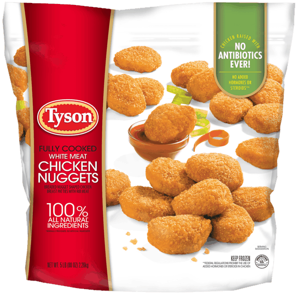 $1.50 for Tyson® Fully Cooked Chicken Nuggets (expiring on Monday, 10/23/2017). Offer available at Sam's Club.