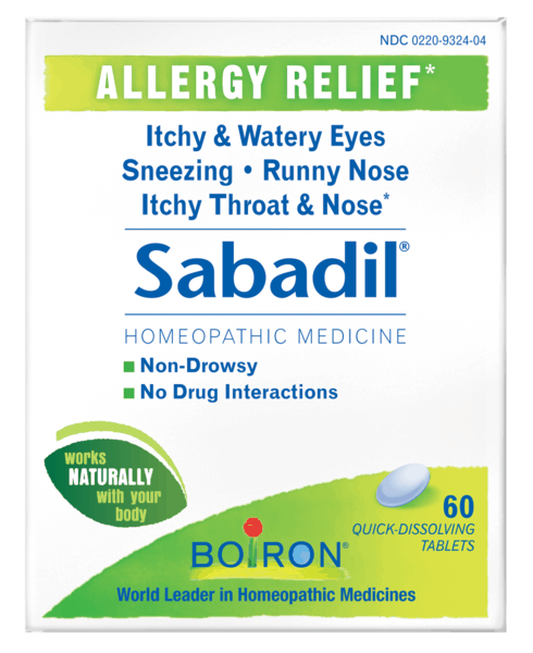 $3.00 for Boiron® Sabadil® Tablets (expiring on Friday, 01/19/2018). Offer available at CVS Pharmacy.