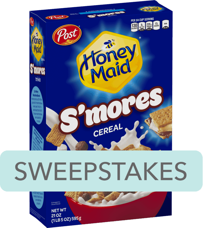 $0.25 for Post® HONEY MAID® S'mores Flavored Cereal. Offer available at multiple stores.