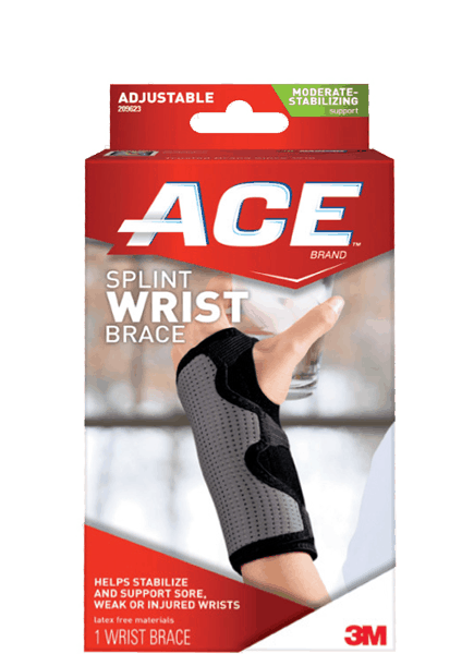 $1.00 for ACE™ Brand Reversible Splint Wrist Brace (expiring on Thursday, 05/17/2018). Offer available at Walmart.
