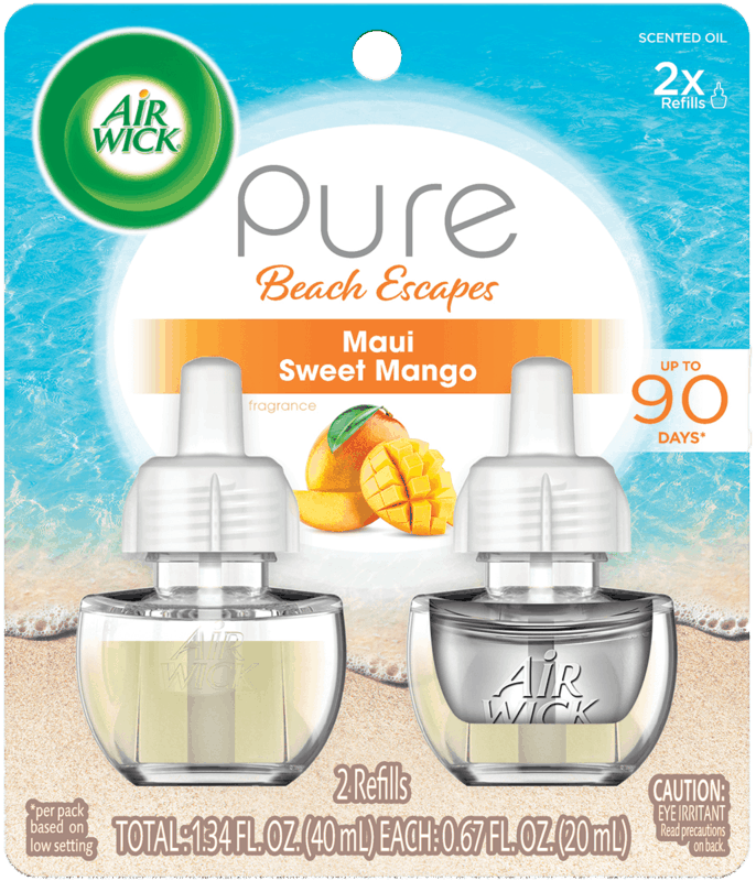 $0.75 for Air Wick® Pure Beach Escapes (expiring on Wednesday, 10/02/2019). Offer available at Walmart.