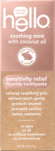$1.50 for hello® sensitivity relief fluoride toothpaste. Offer available at Walmart.