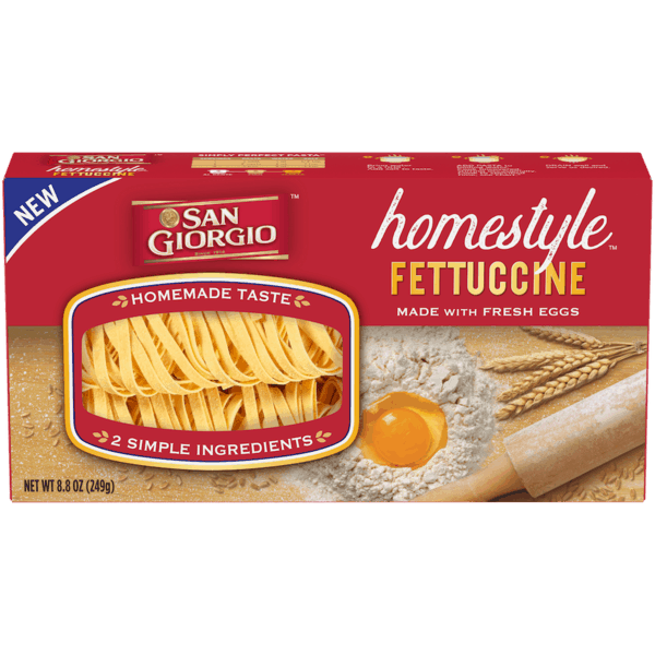 $0.75 for San Giorgio® Homestyle™ (expiring on Wednesday, 10/02/2019). Offer available at Kroger, Food4Less.