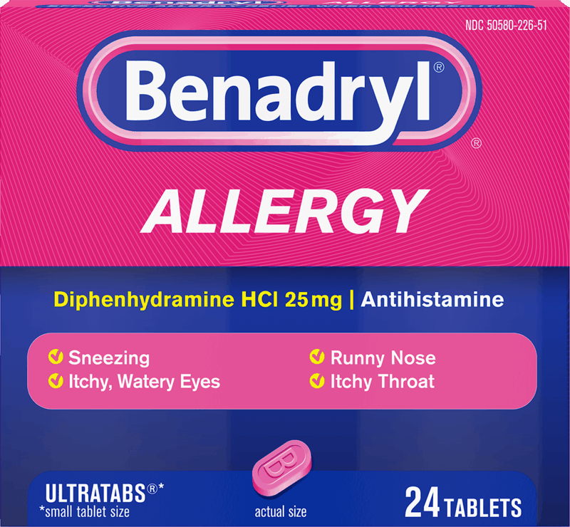 $1.00 for Benadryl (expiring on Monday, 01/11/2021). Offer available at Walmart, Walmart Grocery.