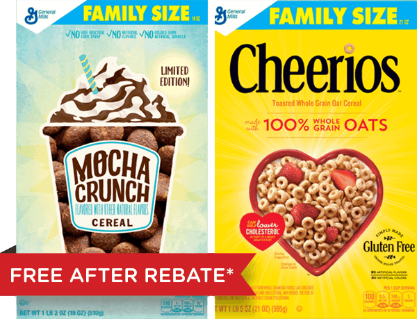 $3.75 for Cheerios™ & Other General Mills Cereal Combo (expiring on Tuesday, 08/01/2017). Offer available at Walmart.