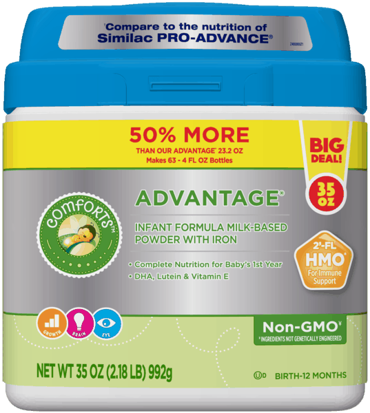 $3.00 for Comforts™ Advantage® Formula (expiring on Saturday, 10/05/2019). Offer available at Kroger.