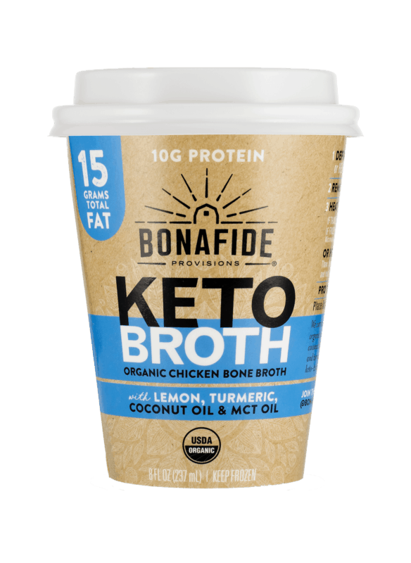 $1.00 for Bonafide Provisions Organic Keto Broth Cup (expiring on Monday, 07/06/2020). Offer available at Wegmans, Natural Grocers, Sprouts Farmers Market.