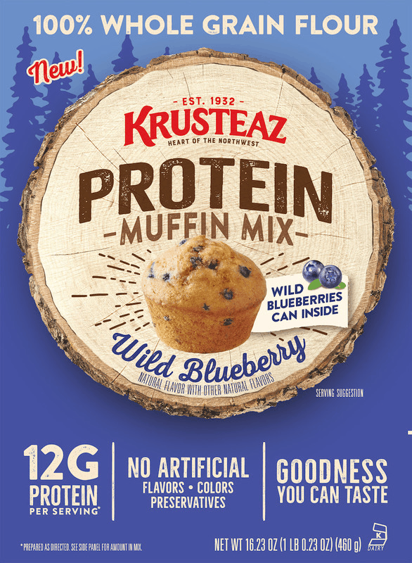 $1.00 for Krusteaz® Protein Muffin Mixes (expiring on Tuesday, 06/30/2020). Offer available at multiple stores.