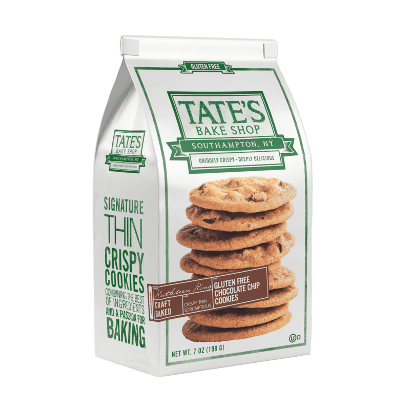 $0.25 for Tate's Bake Shop Gluten Free Cookies (expiring on Wednesday, 08/05/2020). Offer available at Walmart.