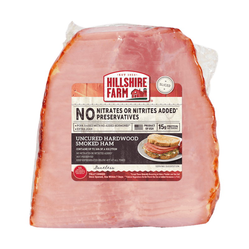 $1.00 for Hillshire Farm Uncured Ham (expiring on Wednesday, 03/31/2021). Offer available at Walmart, Walmart Grocery.