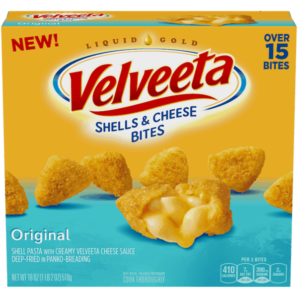 $1.00 for VELVEETA® Shells & Cheese Bites (expiring on Wednesday, 03/14/2018). Offer available at Walmart.