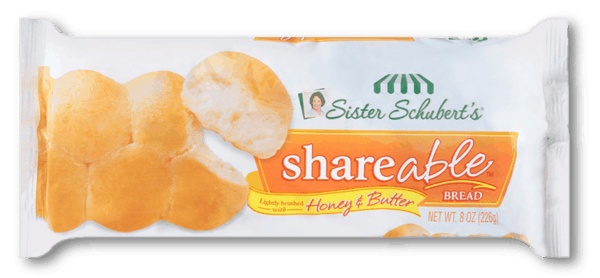 $0.50 for Sister Schubert's® Shareable™ Bread. Offer available at Walmart.