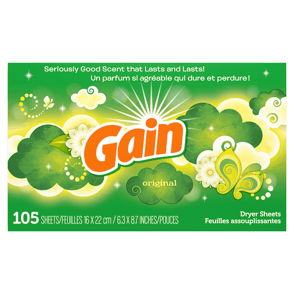 $0.50 for Gain® Dryer Sheets. Offer available at multiple stores.