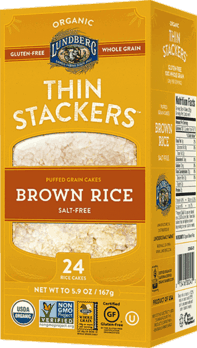 $0.50 for Lundberg Family Farms® Thin Stackers (expiring on Monday, 07/02/2018). Offer available at multiple stores.