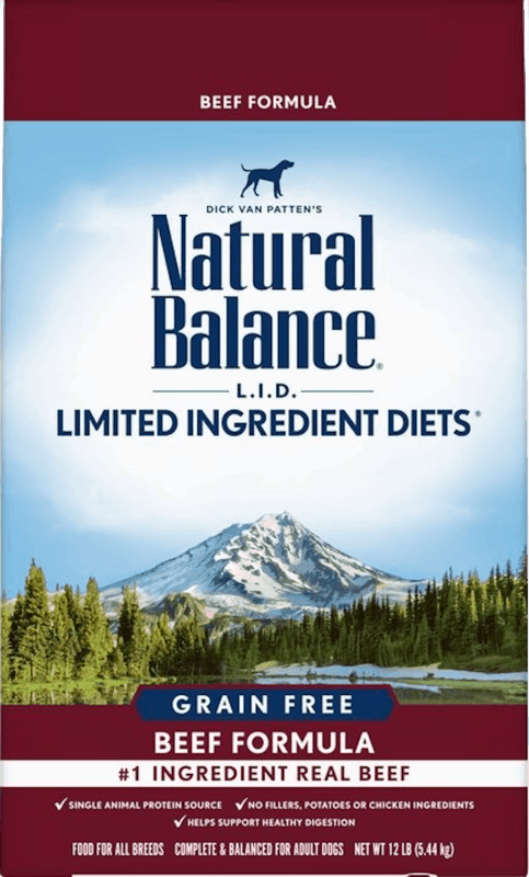 $5.00 for Natural Balance® L.I.D. Limited Ingredient Diet® Dog Food. Offer available at Petco.