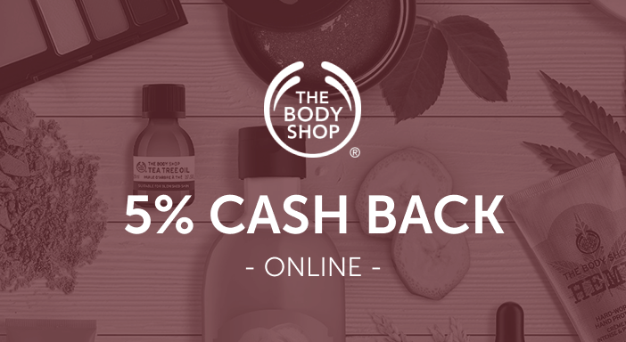 $0.00 for The Body Shop (expiring on Sunday, 08/31/2025). Offer available at The Body Shop.