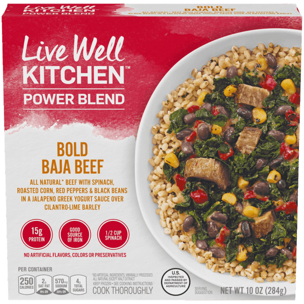 $1.00 for Live Well Kitchen™ Frozen Meals (expiring on Friday, 08/02/2019). Offer available at Walmart.