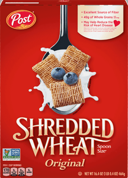 $0.50 for Post® Shredded Wheat Cereal (expiring on Monday, 04/02/2018). Offer available at WinCo Foods.