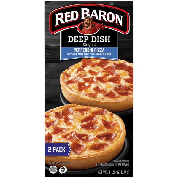 $1.00 for Red Baron® Single-Serve Frozen Pizza (expiring on Friday, 04/05/2019). Offer available at multiple stores.
