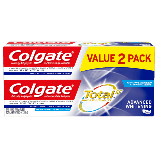 $1.50 for Colgate Total SF Advanced Toothpaste (expiring on Monday, 11/25/2019). Offer available at Walmart.