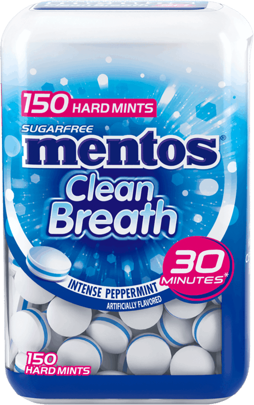 $0.75 for Mentos Clean Breath Mints (expiring on Wednesday, 10/27/2021). Offer available at Walmart, Walmart Pickup & Delivery.