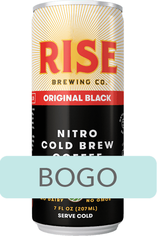 $3.00 for RISE Brewing Co. Nitro Cold Brew Coffee (expiring on Thursday, 01/02/2020). Offer available at Whole Foods Market®.