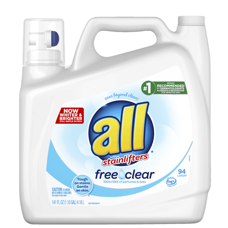 $2.00 for all® Free Clear Laundry Detergent (expiring on Saturday, 05/02/2020). Offer available at Walmart.