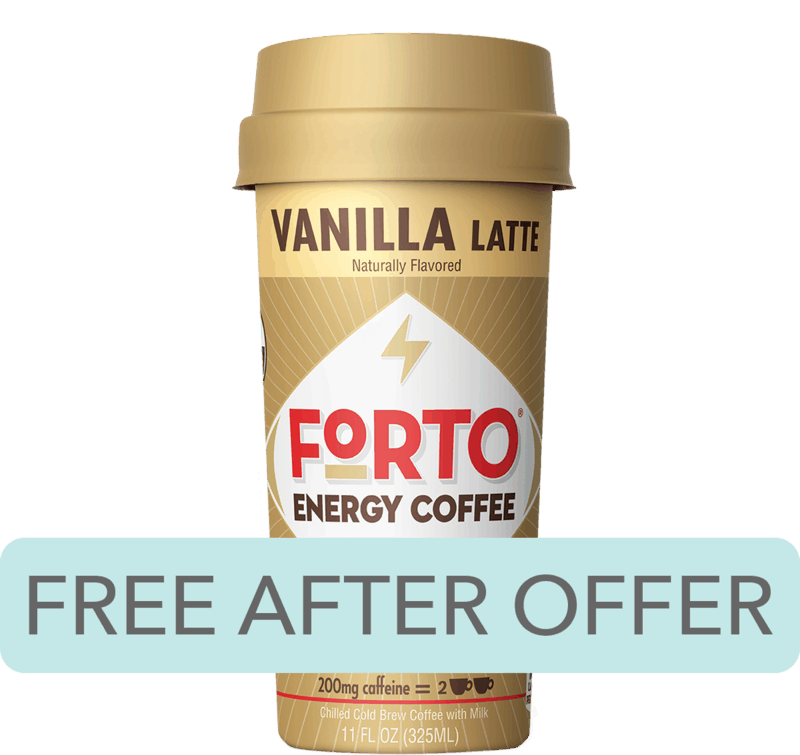 $2.99 for Forto® Energy Coffee (expiring on Saturday, 05/02/2020). Offer available at multiple stores.
