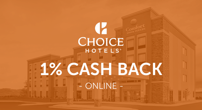 $0.00 for Choice Hotels (expiring on Friday, 10/31/2025). Offer available at Choice Hotels.