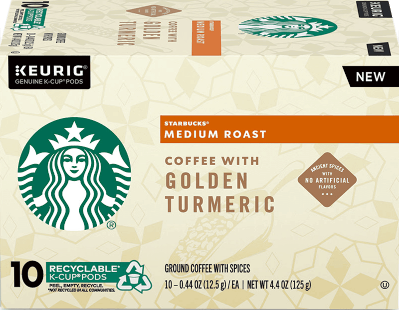 $2.00 for Starbucks K-Cup Pods with Golden Turmeric (expiring on Wednesday, 09/02/2020). Offer available at multiple stores.