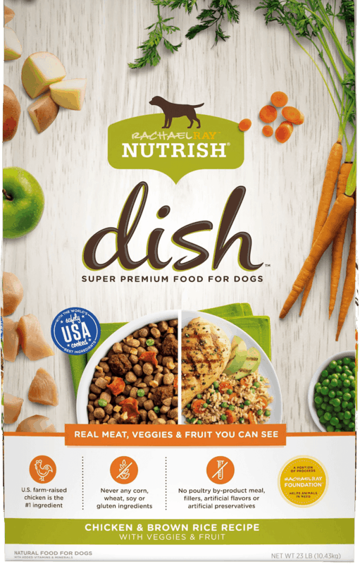$1.50 for Rachael Ray Nutrish Dish Dry Dog Food (expiring on Sunday, 04/12/2020). Offer available at multiple stores.