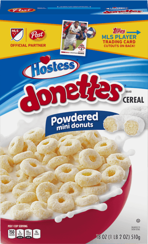 $2.00 for Post® Hostess™ Donettes™ Cereal. Offer available at Walmart.