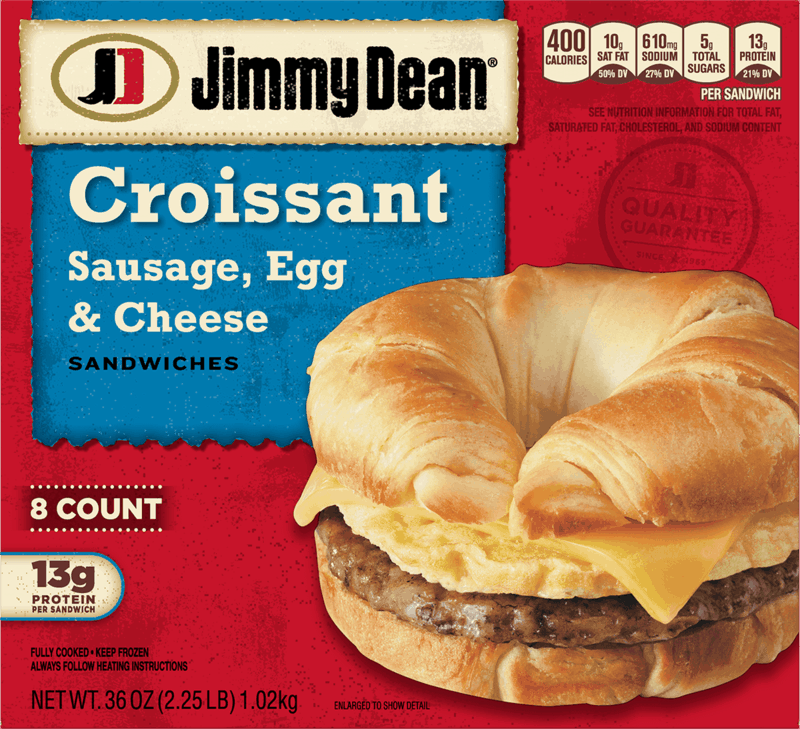 $0.25 for Jimmy Dean® Sausage, Egg and Cheese Croissant (expiring on Friday, 08/27/2021). Offer available at Walmart, Walmart Pickup & Delivery.