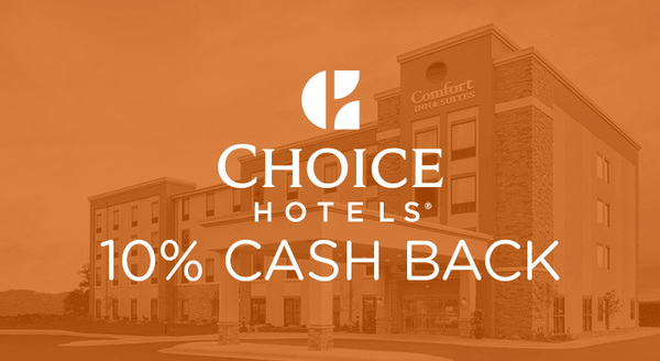 $0.00 for Choice Hotels (expiring on Wednesday, 09/26/2018). Offer available at Choice Hotels.