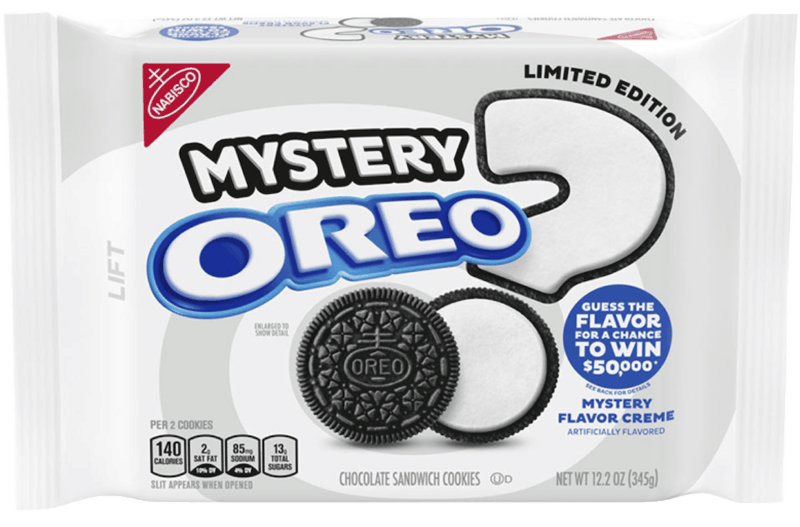$1.00 for OREO Chocolate Sandwich Cookies, Limited Edition Mystery Flavor Creme (expiring on Saturday, 05/02/2020). Offer available at Walmart.