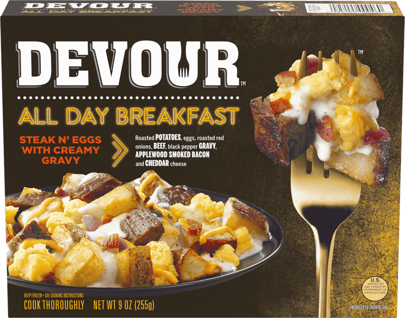 $0.50 for Devour™ Frozen Meals (expiring on Tuesday, 10/15/2019). Offer available at multiple stores.