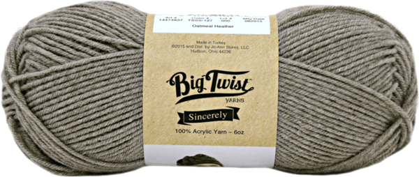 $1.00 for Big Twist Sincerely Yarn (expiring on Sunday, 09/02/2018). Offer available at JOANN .