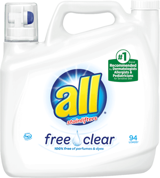 $1.00 for all® Free Clear Laundry Detergent (expiring on Friday, 11/02/2018). Offer available at Walmart.