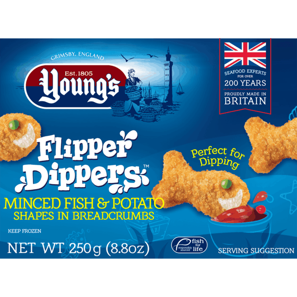 $1.00 for Young's Flipper Dippers™ (expiring on Thursday, 08/02/2018). Offer available at Walmart.
