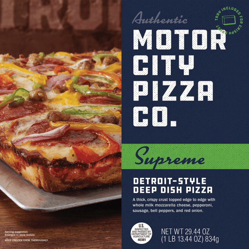$1.00 for Authentic Motor City Pizza Co. Deep Dish Pizza (expiring on Thursday, 01/02/2020). Offer available at Walmart.