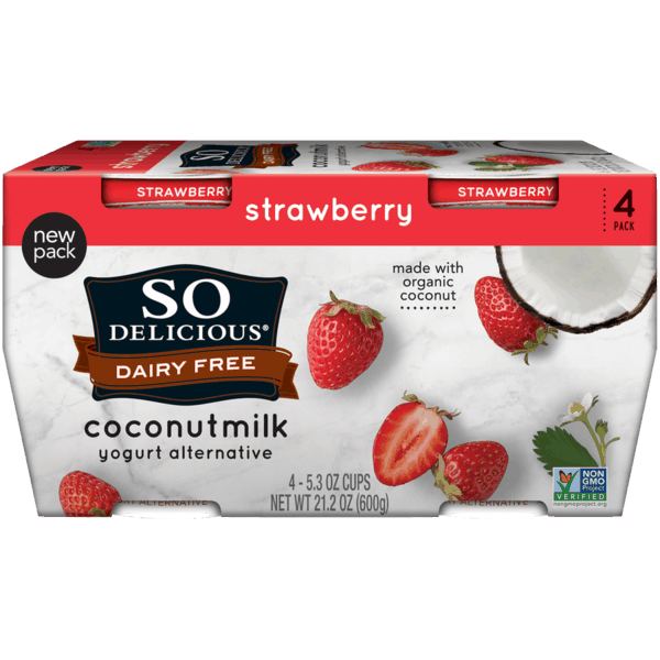 $1.00 for So Delicious Dairy Free Yogurt (expiring on Friday, 08/02/2019). Offer available at multiple stores.