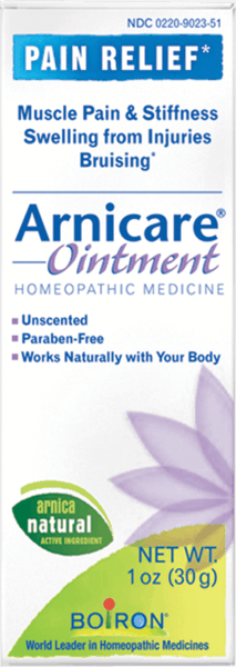 $1.00 for Boiron® Arnicare® Ointment (expiring on Wednesday, 08/01/2018). Offer available at Wegmans, Whole Foods Market®, Sprouts Farmers Market, Vitamin Shoppe.