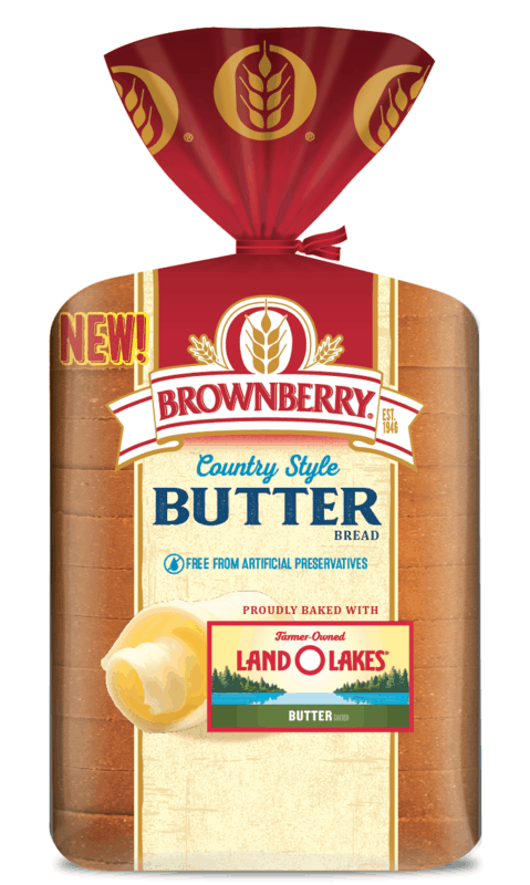 $0.50 for Brownberry Country Style Butter Bread. Offer available at multiple stores.