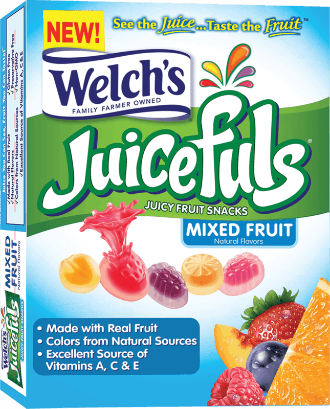 $0.50 for Welch's Juicefuls (expiring on Monday, 08/16/2021). Offer available at multiple stores.