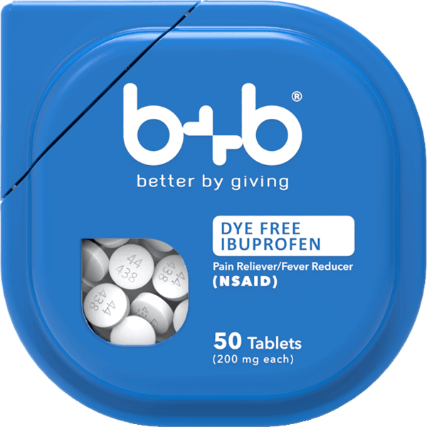 $2.00 for b+b® Dye-Free Ibuprofen (expiring on Monday, 07/02/2018). Offer available at Walmart.