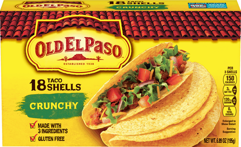 $0.50 for Old El Paso™ Taco Shells. Offer available at multiple stores.