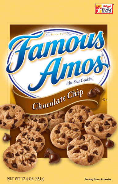 $0.75 for Famous Amos® Cookies (expiring on Wednesday, 09/20/2017). Offer available at Walmart.