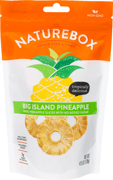 $1.00 for NatureBox Big Island Pineapple (expiring on Monday, 05/21/2018). Offer available at Safeway, Target, Sprouts Farmers Market, Cost Plus.