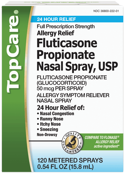 $4.00 for Top Care Fluticasone Propionate Nasal Spray (expiring on Monday, 04/02/2018). Offer available at multiple stores.